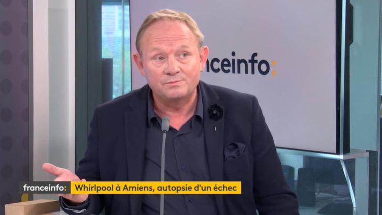 Nicolas Decayeux, ex-repreneur de l'usine Whirpool à Amiens, invité de franceinfo le 15 septembre 2021. (FRANCEINFO)