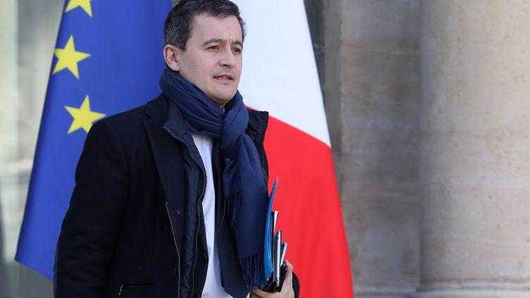 Gérald Darmanin le ministre de l'Action et des Comptes publics, le 28 février 2018 à l'Élysée. (LUDOVIC MARIN / AFP)