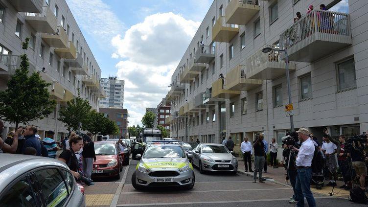 Kings Road, dans le quartier de Barking, dans l'Est londonien. (JUSTIN TALLIS / AFP)