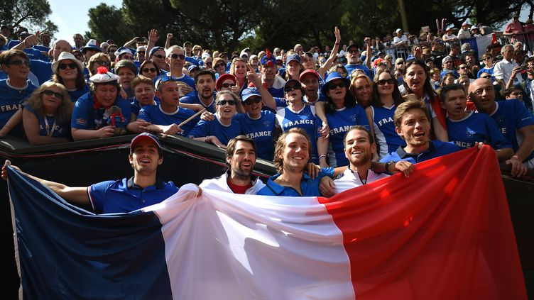 Les joueurs de l'équipe de France de Coupe Davis. (MARCO BERTORELLO / AFP)