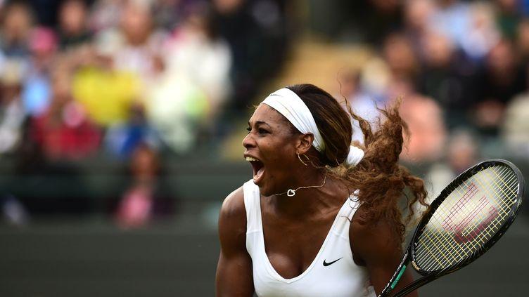 Serena Williams, lors de Wimbledon 2014. (CARL COURT / AFP)