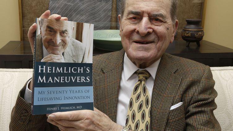 Le docteur Henry Heimlich photographié chez lui, à Cincinnati (Etats-Unis), le 5 février 2014. (AL BEHRMAN/AP/SIPA / AP)