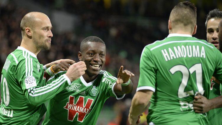 Max-Alain Gradel a trouvé la faille dès la première minute de jeu.  (JEAN-PHILIPPE KSIAZEK / AFP)
