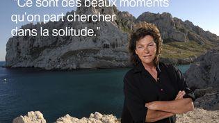 """Interrogée par Canal+ sur la solitude du marin, Florence Arthaud confie son plaisir d'être seule sur la mer. """"Ce n'est pas une solitude souffrance (...) C'est une solitude enrichissante, où l'on se retrouve avec soi-même et qui nous aide à vivre pour le reste de la vie"""", explique-t-elle. (  MAXPPP)"""