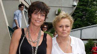 Muriel Robin et sa compagne Anne Le Nen à la ville comme à l'écran  (Sipa)