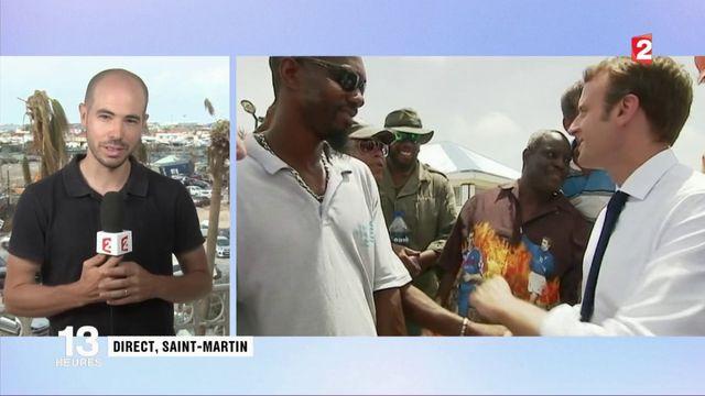 Emmanuel Macron au plus près de la population de Saint-Martin