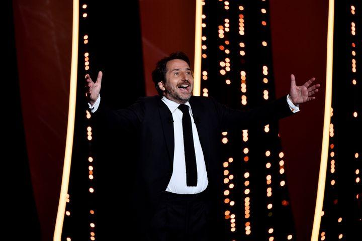 Edouard Baer, maître de cérémonie de la soirée d'ouverture du Festival de Cannes, le 14 mais 2019. (CHRISTOPHE SIMON / AFP)