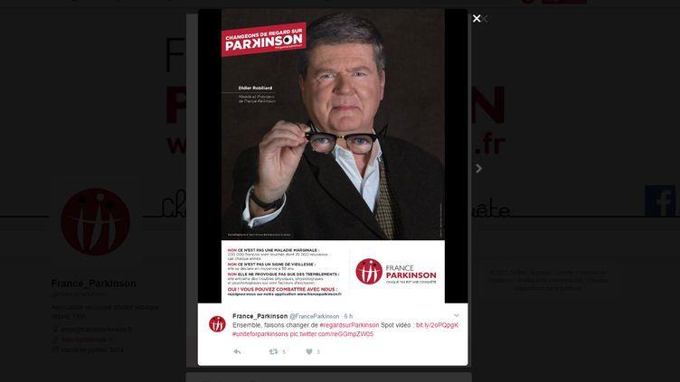 L'association France Parkinson lance une campagne pour lutter contre les préjugés sur la maladie. (FRANCE PARKINSON Twitter)