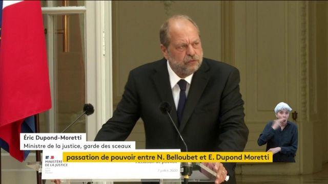 """VIDEO. """"Je ne fais de guerre à personne """", déclare Eric Dupont-Moretti, nouveau ministre de la Justice"""