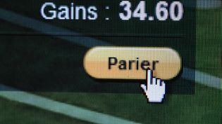Capture d'écran d'un site de paris sportifs en ligne. (DURAND FLORENCE / SIPA)