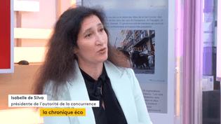 """Invitée de Jean-Paul Chapeldans """":L'éco"""", jeudi 13juillet, Isabelle de Silva, présidente de l'autorité de la concurrence, explique notamment comment se régule la publicité en ligne. (FRANCEINFO)"""