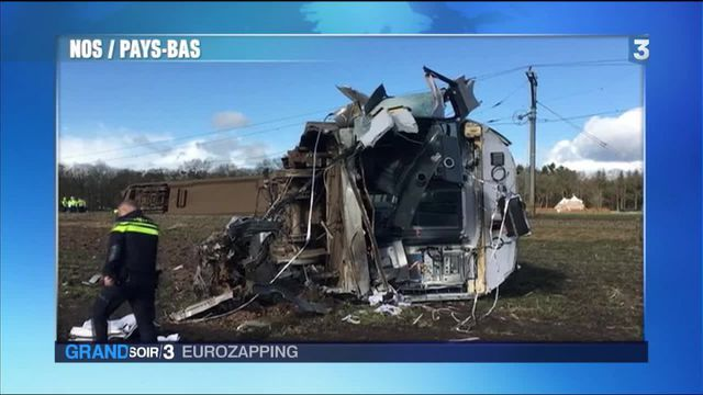 Eurozapping : accident de train aux Pays-Bas
