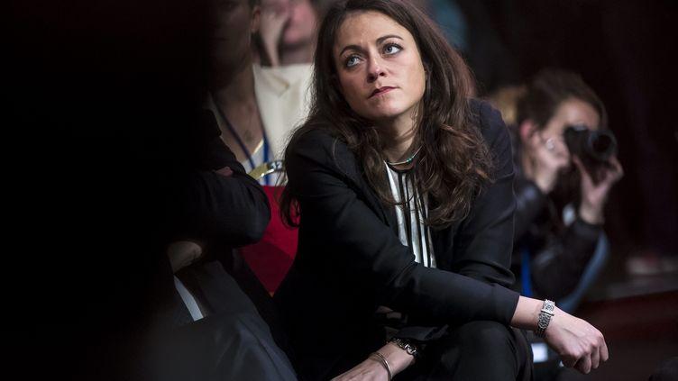 Marie-Laure Harel, à un meeting de campagne de Nathalie Kosciusko-Morizet, à Paris, le 9 novembre 2016. (MAXPPP)