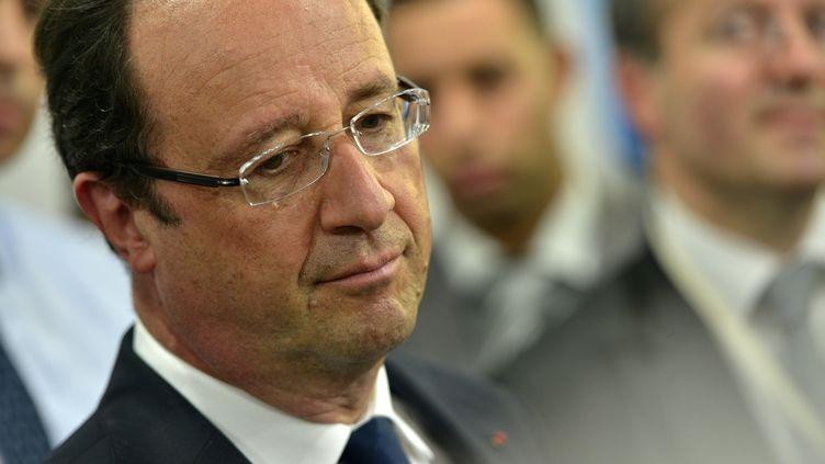 François Hollande, lors d'un déplacement à Tunis, le 5 juillet 2013. (MOUSSE / SIPA)