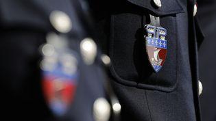 Le logo des policiers de la préfecture de Paris. (THOMAS SAMSON / AFP)