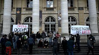 Le Grand-Théâtre de Bordeaux occupé (15 mars 2021) (PHILIPPE LOPEZ / AFP)