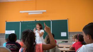 Dans une école primaure du Marseille (Bouches-du-Rhône), le 1er septembre 2015. (BERTRAND LANGLOIS / AFP)