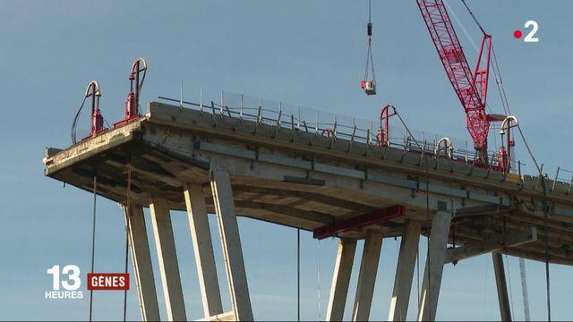 Gênes : la déconstruction des restes du pont a démarré