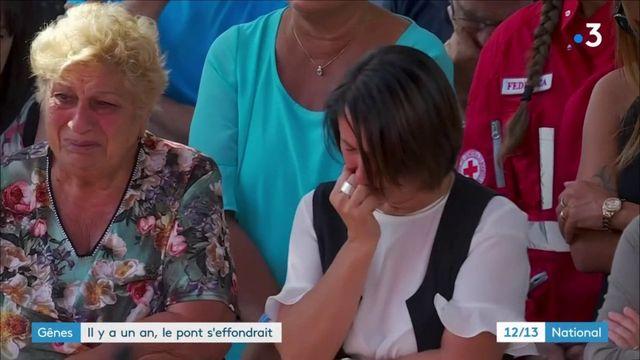 Gênes : hommage national un an après l'effondrement du pont Morandi
