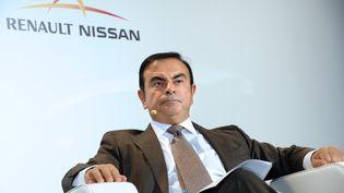 Carlos Ghosn participe à une conférence de presse à Paris, le 28 septembre 2012. (ERIC PIERMONT / AFP)