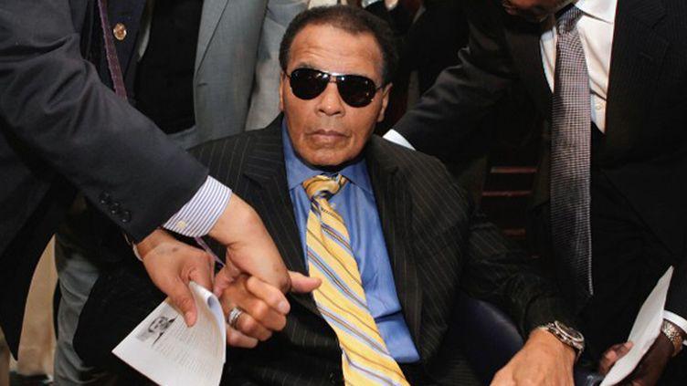 Mohamed Ali pris en photo en 2011