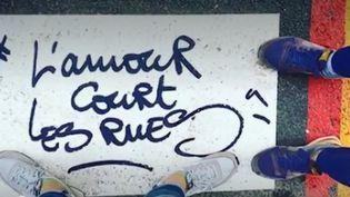 Une des réalisations d'un graffeur parisien soupçonné de viols. (FRANCE 3)