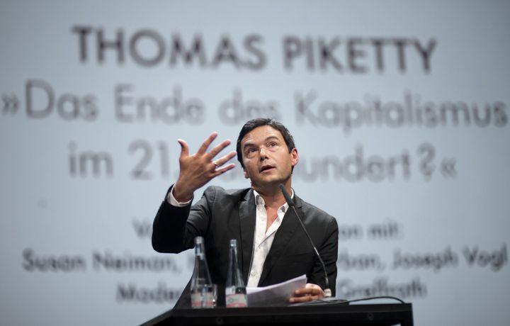 Thomas Piketty lors d'une conférence à Berlin en novembre 2014  (Stefan Boness/Ipon/SIPA)