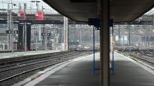 La gare de Lille Flandres (Nord), vendredi 6 décembre 2019 lors du second jour de grève contre la réforme des retraites. (MAXPPP)