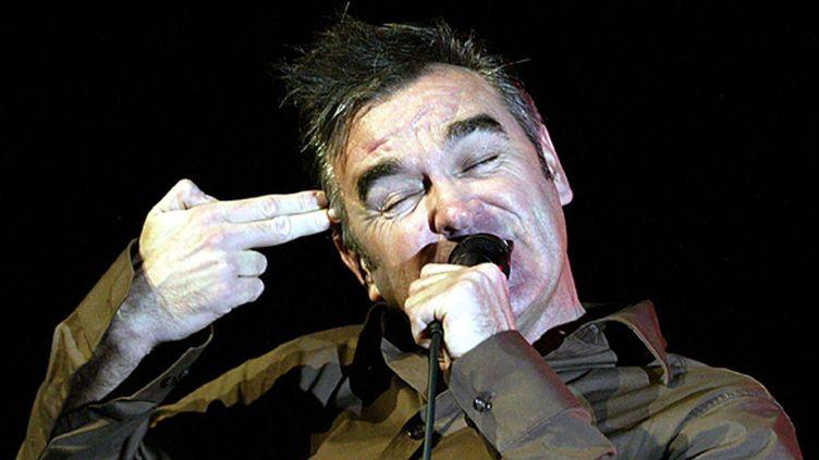 Morrissey sur scène à Miamo, en 2004.  (Marianne Armshaw/WENN/SIPA)