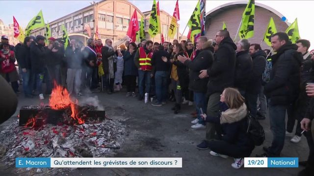 Emmanuel Macron : qu'attendent les grévistes de son discours ?
