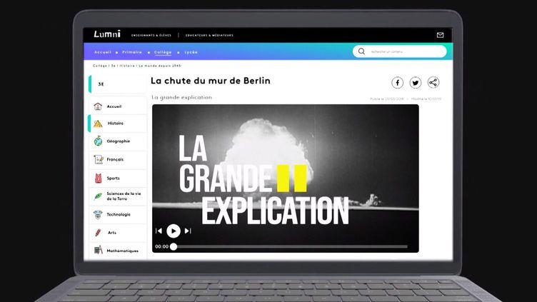 Capture d'écran de la vidéo de présentation de Lumni de France télévisions. (FRANCE TELEVISIONS)