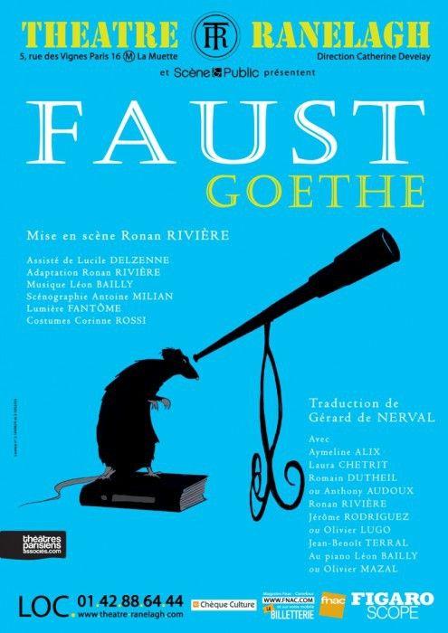 """""""Faust"""" au Théâtre du Ranelagh : l'affiche  (DR)"""