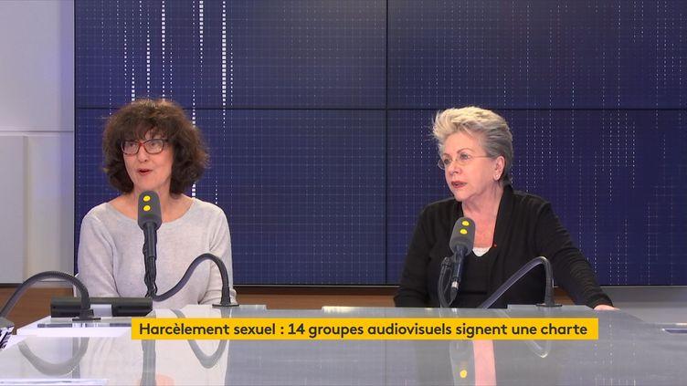 Laurence Bachman et Françoise Laborde affirment qu'une deuxième vague de signatures interviendra en septembre. (FRANCEINFO / RADIOFRANCE)