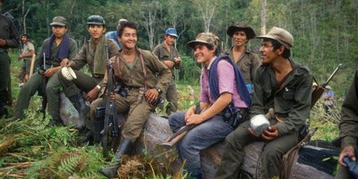 Militants des FARC dans la région d'Uribe, dans les montagnes colombiennes, 10 novembre 1987 (AFP - Jesus Carlos - Agência Estado - AE)