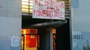 L'université de Lettres à Nantes, occupé par des étudiants et des mineurs étrangers isolés, jeudi 23 novembre 2017. (AURORE JARNOUX/RADIOFRANCE)