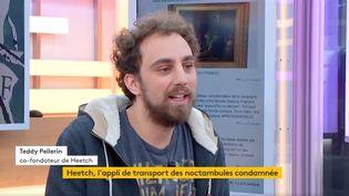 Teddy Pellerin, co-fondateur de l'application de transports nocturnes entre particuliers, Heetch (FRANCEINFO)