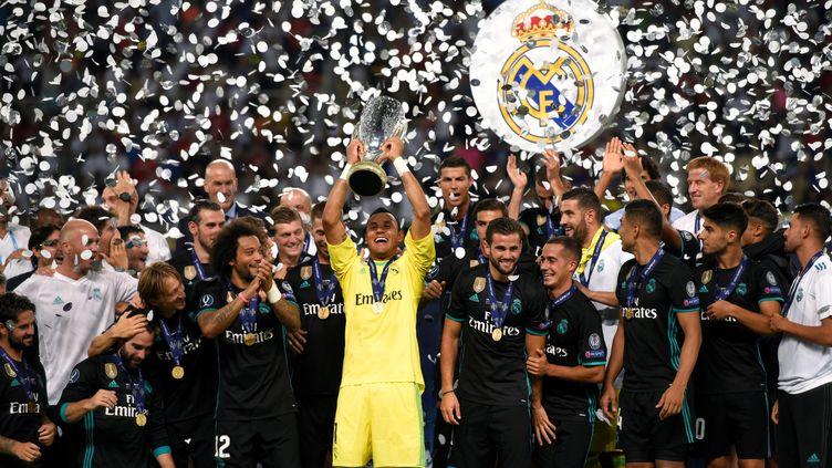 Les Madrilènes ont remporté leur deuxième supercoupe d'Europe de suite (DIMITAR DILKOFF / AFP)