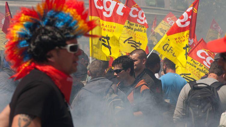 MAI 2014, manifestation des cheminots à Paris (ROMUALD MEIGNEUX / SIPA)