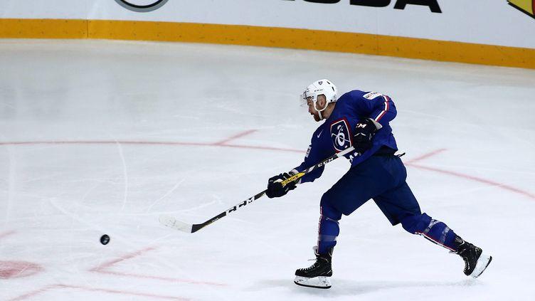 L'équipe de France de hockey en action (?THIERRY LARRET / MAXPPP)