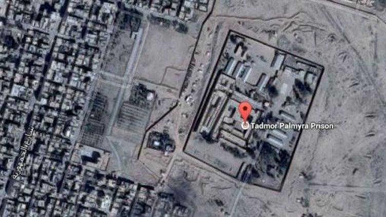 Vue aérienne de la prison de Palmyre (Google)