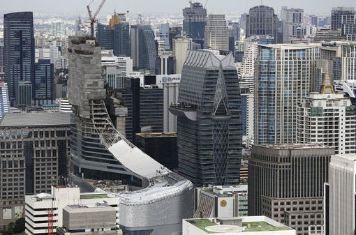 Gratte-ciels dans le centre de Bangkok (23 juillet 2014) (Reuters - Damir Sagolj)