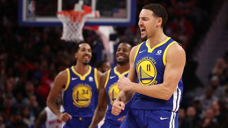 Klay Thompson. (GREGORY SHAMUS / GETTY IMAGES NORTH AMERICA)