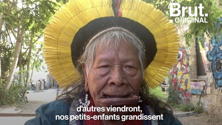 """VIDEO. """"Comment allons-nous respirer ?"""" : Le message de Raoni pour la forêt amazonienne (BRUT)"""
