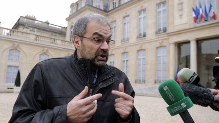 Le secrétaire général de la CFDT, François Chérèque, fin janvier à Paris (AFP PHOTO / ERIC FEFERBERG)