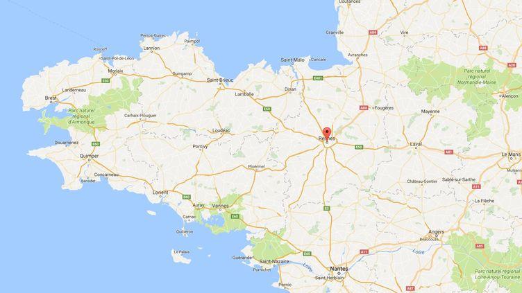 Les faits se sont déroulés à Rennes (Ille-et-Vilaine). (GOOGLE MAPS)