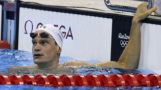 Yannick Agnel au 200m nage libre à Rio, le 7 août 2016. (GABRIEL BOUYS / AFP)