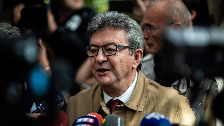 Jean-Luc Mélenchon au tribunal de Bobigny, le 20 septembre 2019. (MARTIN BUREAU / AFP)