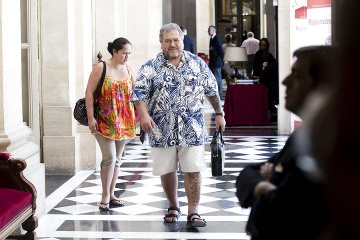 Moetai Brotherson arrive à l'Assemblée nationale, le 20 juin 2017, à Paris. (MAXPPP)