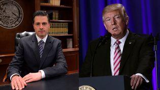 EnriquePeña Nieto et Donald Trumpsont entrés en désaccord après la signature, parle président américain, d'un décret sur la construction d'un mur à la frontière entre les Etats-Unis et le Mexique, mercredi 25 janvier 2017. (AFP)
