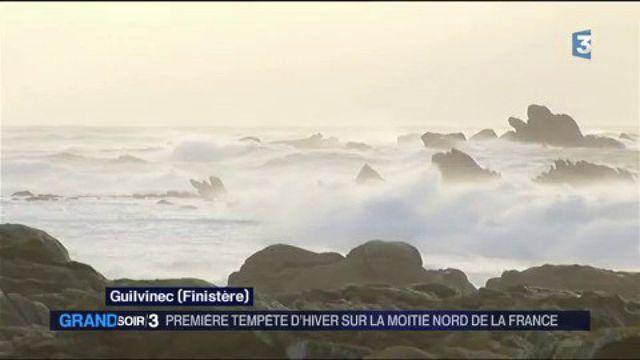 Première tempête d'hiver sur la moitié nord de la France